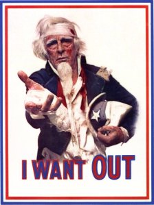 "Uncle Sam ""I Want Out"""