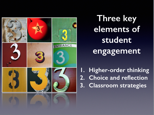 Three key elements of student engagement